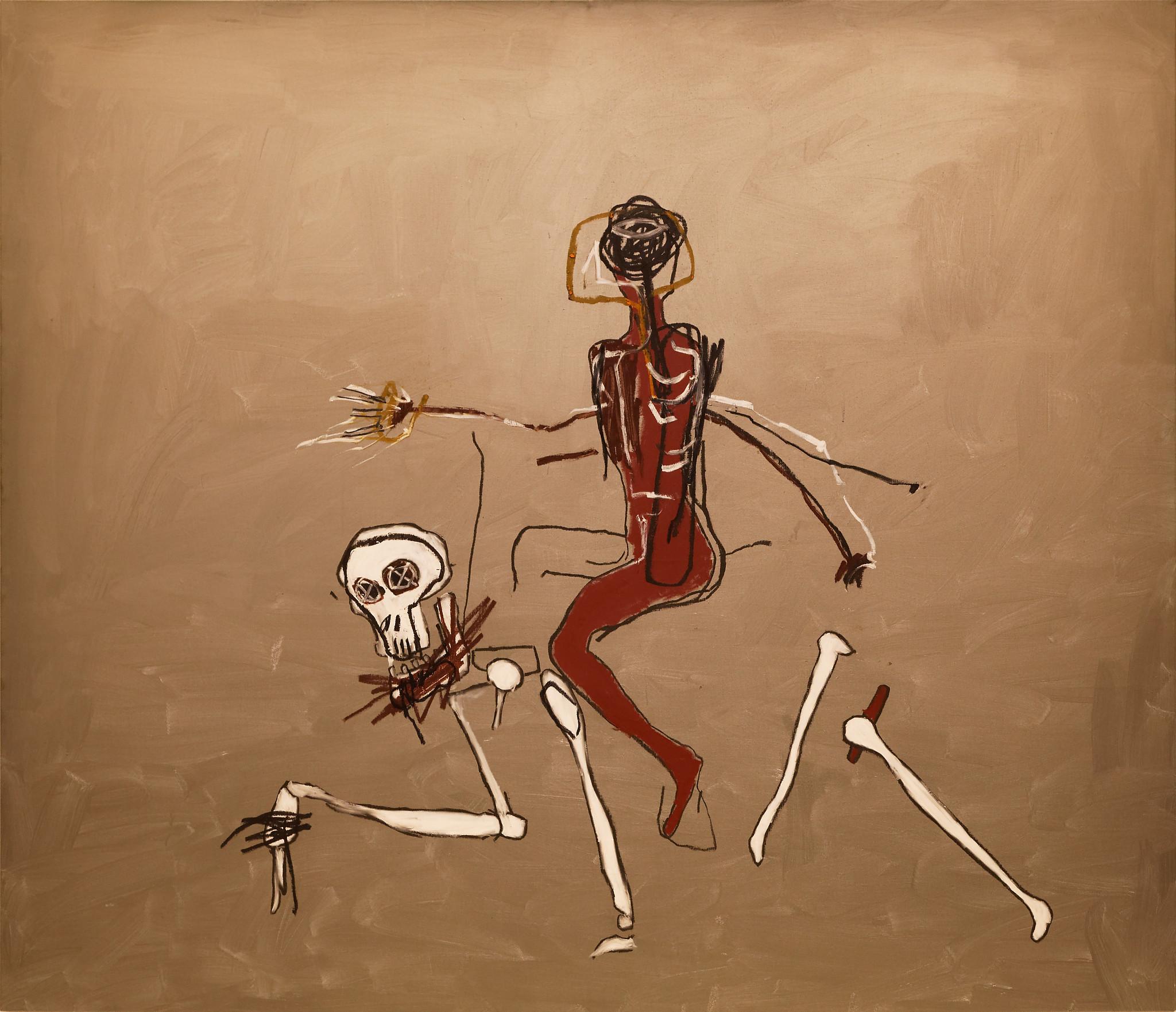 Basquiat riding death – L'Art en Tête